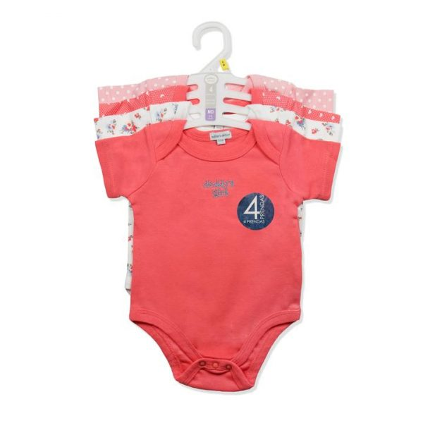 4pc pack of baby body suits