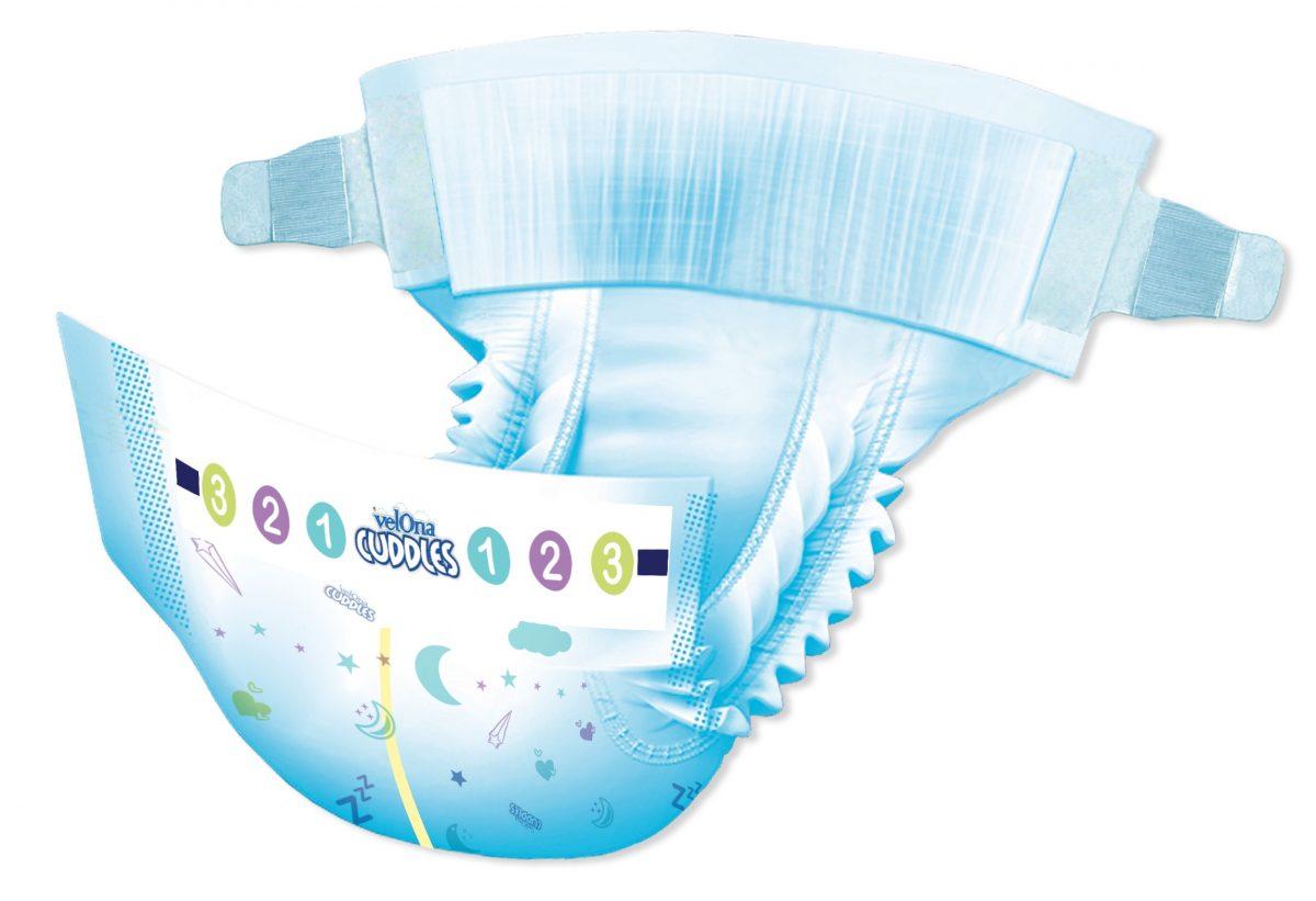 Velona Cuddles Overnyt - Model Diaper