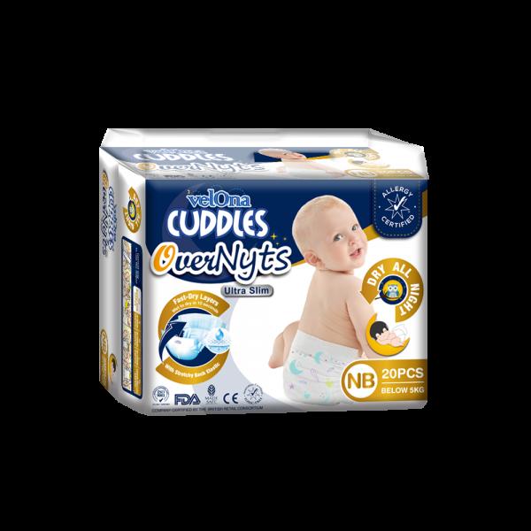 Velona Cuddles Overnyts Ultra Slim Diaper - NB